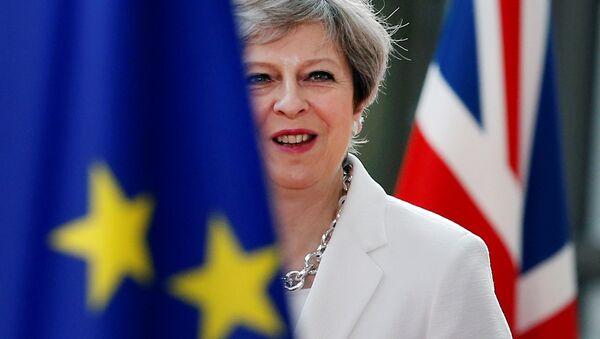 British Prime Minister Theresa May arrives at the EU summit in Brussels, Belgium, June 23, 2017. - Sputnik International