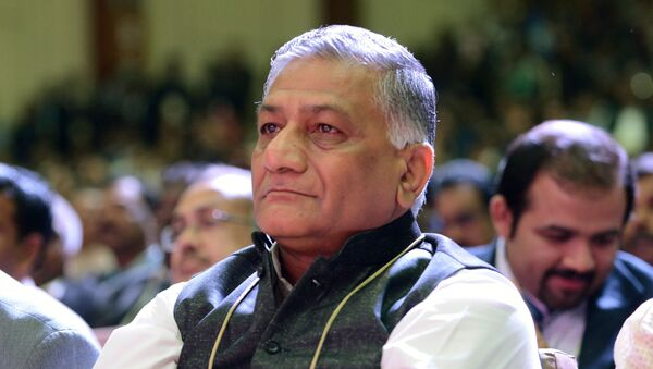 Indian Union Minister of State for External Affairs and retired army general V.K. Singh - Sputnik International