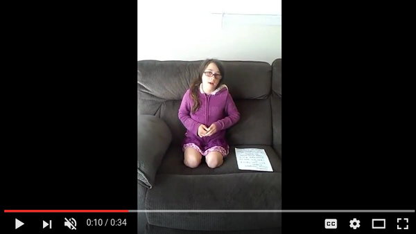 11-year-old Emily Pooler asks the internet for a replacement kidney, from a July 6 Youtube post - Sputnik International