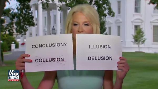 Kellyanne Conway's Cue Cards on Collusion Allegations - Sputnik International