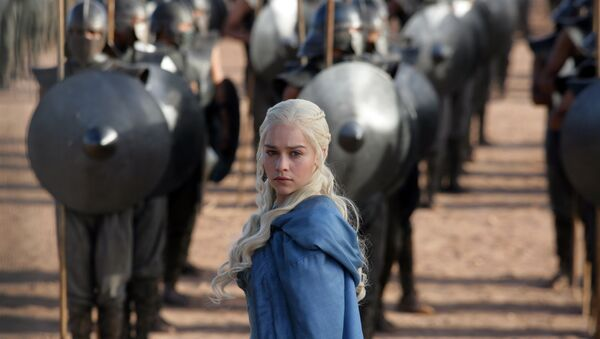 This file publicity image released by HBO shows Emilia Clarke as Daenerys Targaryen in a scene from Game of Thrones. - Sputnik International