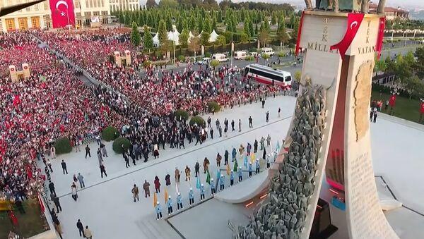 Erdogan Unveils Monument to Commemorate Coup Attempt Victims - Sputnik International