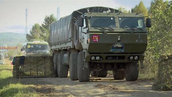 China Ministry of Defense (MND) video from July 16, 2017 shows its autonomous military supply vehicle. - Sputnik International