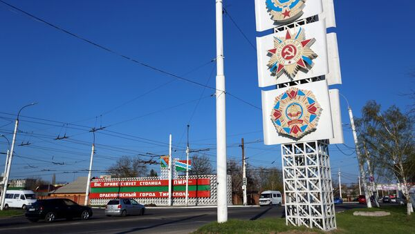 Soviet orders are displayed on a large billboard along the main thoroughfare entering Tiraspol, capital of the self-proclaimed Moldovan Republic of Transnistria on April 3, 2017. - Sputnik International