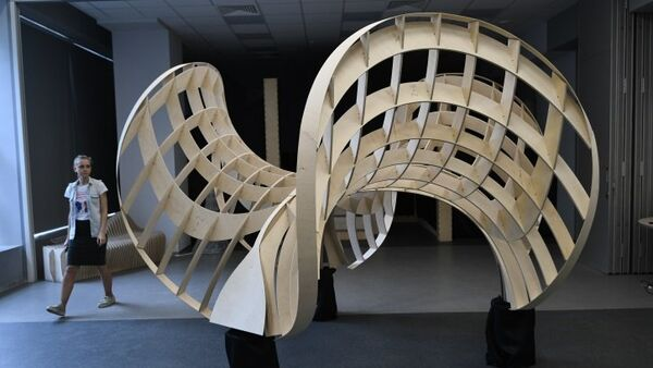 Part of a plywood structure for building a complex stone arch - Sputnik International