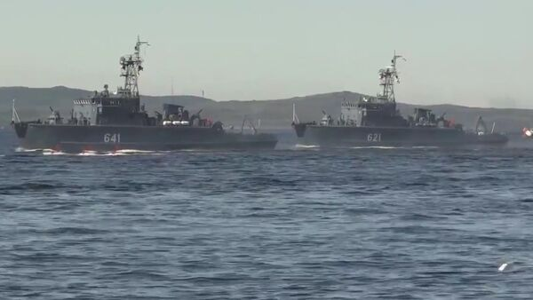 Navy Day Parade Rehearsals In Kola Bay - Sputnik International