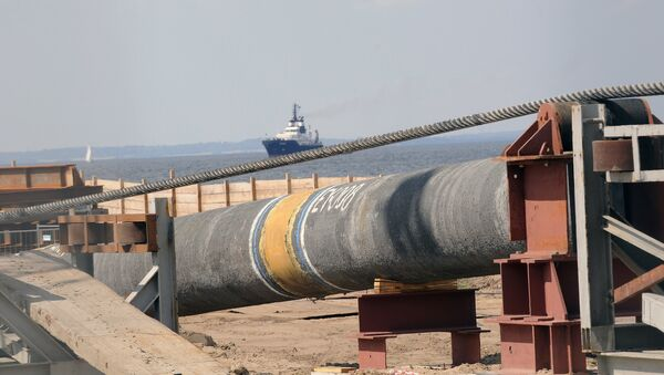 Pipes of the German-Russian Nordstream gas pipeline are seen at the Baltic Sea coast in Lubmin, northern Germany - Sputnik International