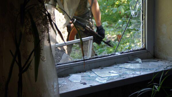 A residential building in Kirovsk, Lugansk Region, damaged by shelling - Sputnik International