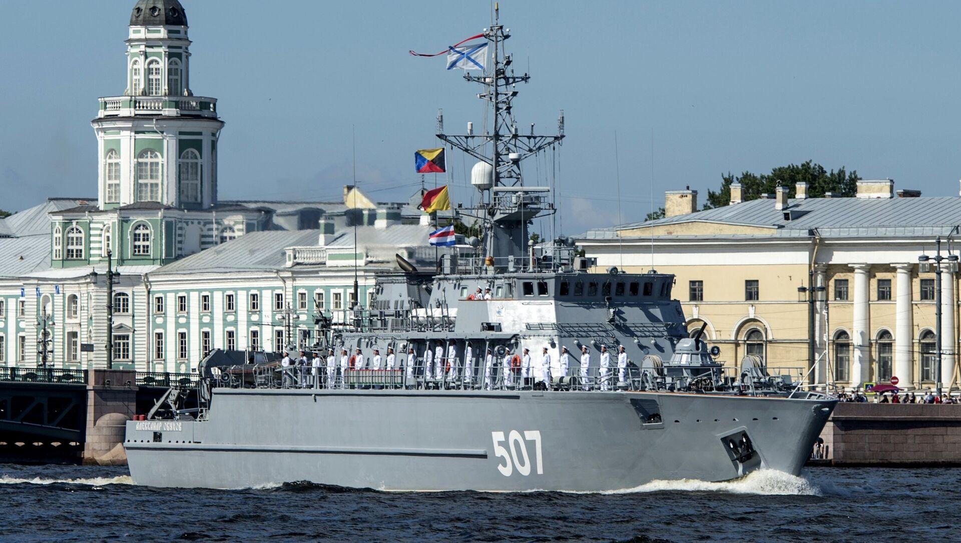 Rehearsal of Russian Navy Day parade in St. Petersburg - Sputnik International, 1920, 25.07.2021