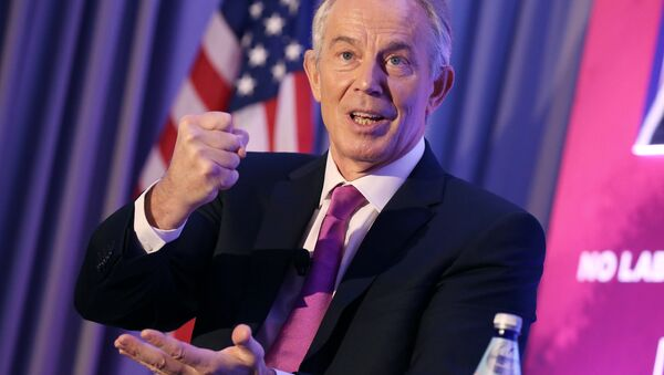 Former United Kingdom Prime Minister H.E. Tony Blair talks about the global imperative to reclaim the new center at the 1787: Constructing The Peace After The War event on Monday December 5, 2016 in Washington DC. - Sputnik International