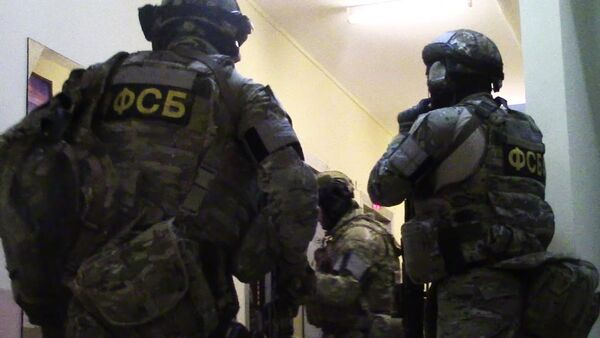 Federal Security Service agents during a sabotage-terrorist group arrest operation in Moscow. (File) - Sputnik International
