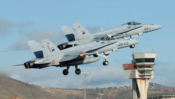 Spanish Air Force's EF-18 - Sputnik International