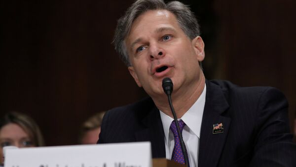 Christopher Wray testifies before a Senate Judiciary Committee confirmation hearing on his nomination to be the next FBI director on Capitol Hill in Washington, U.S., July 12, 2017 - Sputnik International