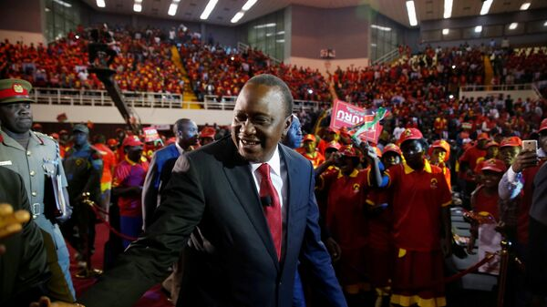 Kenya's President Uhuru Kenyatta arrives to the an event unveiling the Jubilee Party's manifesto in Nairobi. - Sputnik International
