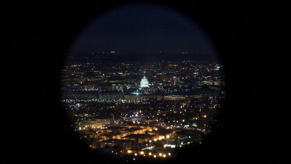 A helicopter view of the US Capitol building on Capitol Hill in Washington, DC. (File) - Sputnik International