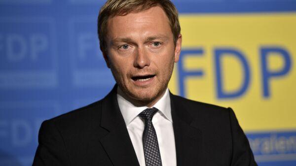 Christian Lindner of the Free Democratic party FDP  - Sputnik International