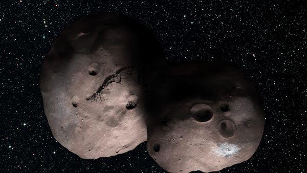 One artist's concept of Kuiper Belt object 2014 MU69, the next flyby target for NASA's New Horizons mission - Sputnik International