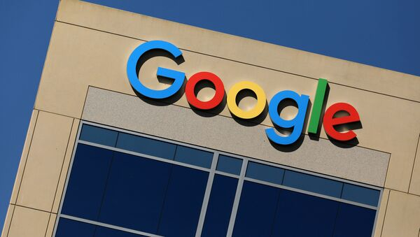 The Google logo is pictured atop an office building in Irvine, California, US, August 7, 2017. - Sputnik International