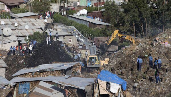 Damaged houses by landslide. (File) - Sputnik International