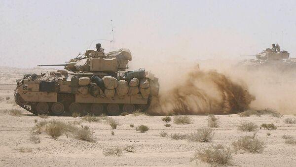 US Army Bradley fighting armor vehicles. (File) - Sputnik International