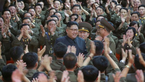 North Korean leader Kim Jong Un inspected the Command of the Strategic Force of the Korean People's Army (KPA) in an unknown location in North Korea in this undated photo released by North Korea's Korean Central News Agency (KCNA) on August 15, 2017. - Sputnik International