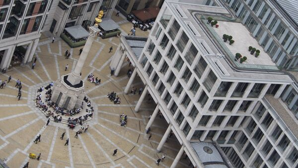 Paternoster Square as seen from St. Paul's Cathedral - London Stock Exchange - Sputnik International