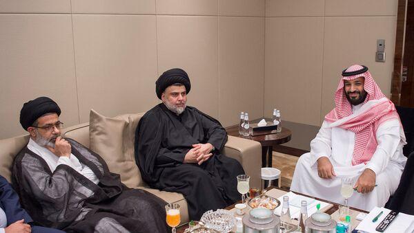 Saudi Crown Prince Mohammed bin Salman meets with Iraqi Shi'ite leader Muqtada al-Sadr in Jeddah, Saudi Arabia July 30, 2017 - Sputnik International