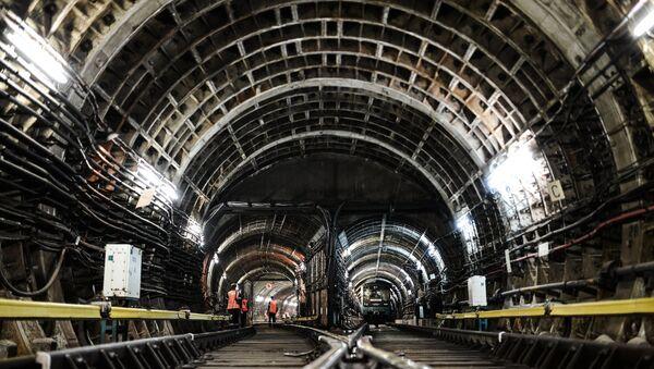 Night-time routine maintenance at Moscow metro - Sputnik International