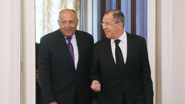 Russian Foreign Minister Sergei Lavrov meets with Egyptian Foreign Minister Sameh Shoukry - Sputnik International