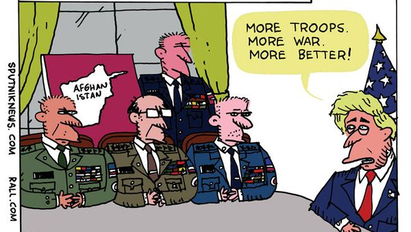Trump Afghanistan Cartoon - Sputnik International