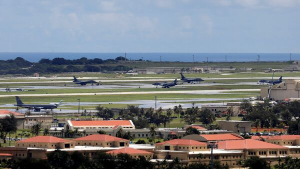 A view of U.S. military planes parked on the tarmac of Andersen Air Force base on the island of Guam, a U.S. Pacific Territory, August 15, 2017 - Sputnik International