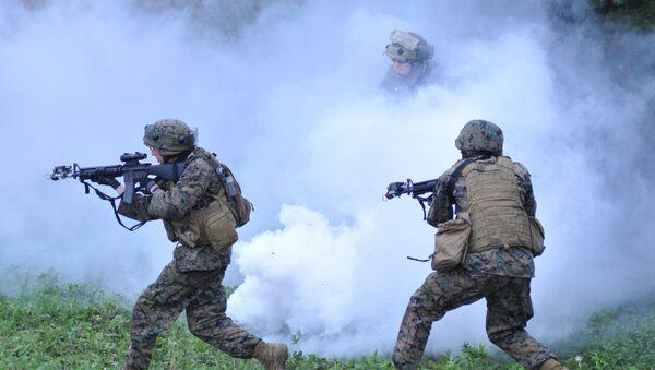 US and Lithuanian servicemen demonstrate their skills - Sputnik International