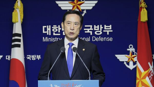 South Korean Defense Minister Song Young-moo speaks during a press conference at the Defense Ministry in Seoul, South Korea, Saturday, July 29, 2017. - Sputnik International