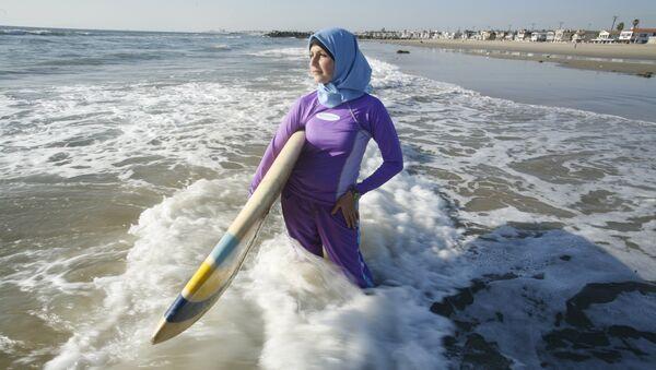 Muslim woman in swim wear, file photo - Sputnik International