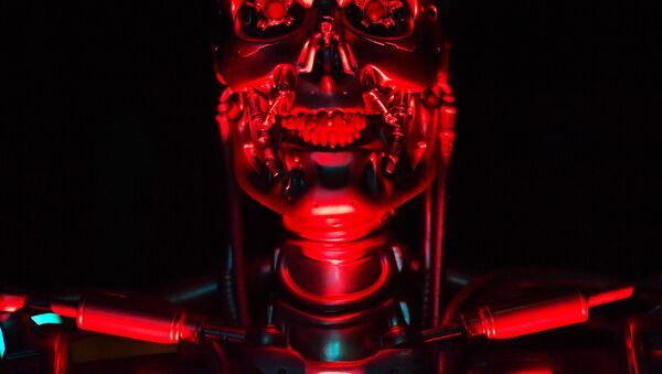 A robot named 'T-800 Endoskeleton robot' used during the filming of Salvation, part of the US Terminator film franchise is on view at the ROBOT exhibition at the Science Museum in London on February 7, 2017.  - Sputnik International