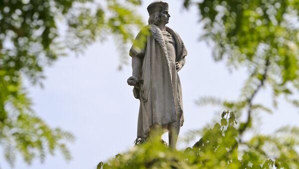 Christopher Columbus statue in Manhattan. - Sputnik International