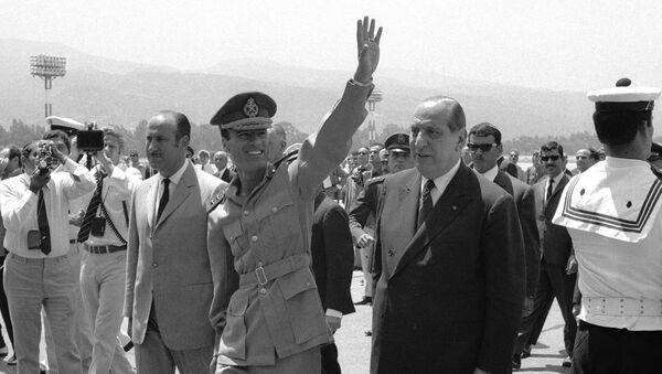 Arrival of Premier Moammar Gadhafi of Libya in Beirut, Sunday, June 6, 1970. - Sputnik International