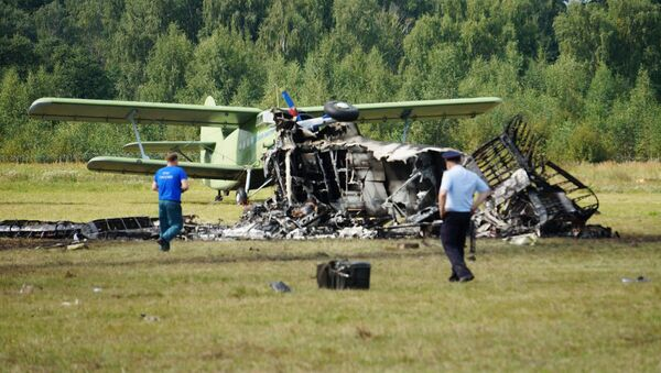 An-2  plane crashed during a demonstration flight in Balashikha - Sputnik International