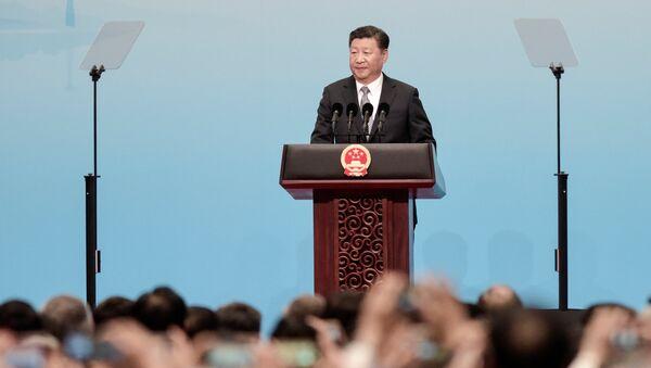 Chinese President Xi Jinping speaks at the opening of the BRICS Summit in Xiamen, China September 3, 2017 - Sputnik International