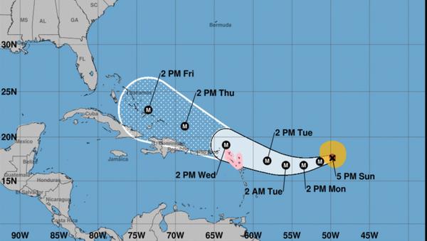 US National Hurricane Center Hurricane Irma tracking projection September 3, 2017 - Sputnik International