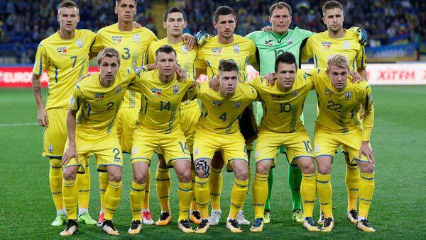 Ukraine players pose for the pre match photograph. 2018 World Cup Qualifications - Europe - Ukraine vs Turkey - Kharkiv, Ukraine September 2, 2017. - Sputnik International