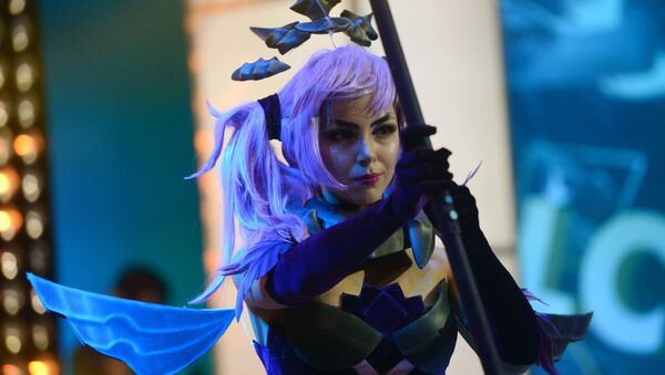 A cosplayer during the League of Legends Continental League finals at the Glavkino film and television complex in the Moscow Region - Sputnik International