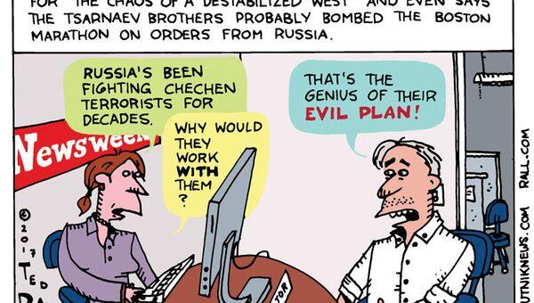 Kovalev Newsweek Cartoon - Sputnik International