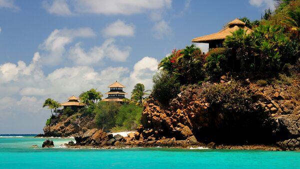 Buildings line the shore of Necker Island in the British Virgin Islands, Friday, May 17, 2013. - Sputnik International