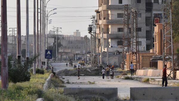 A street in Deir ez-Zor - Sputnik International