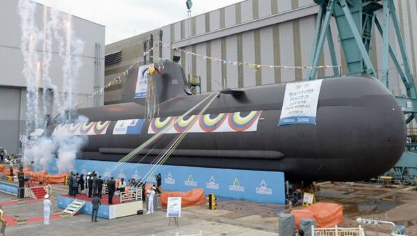 Republic of Korea Navy's KSS-2-class Sin Dol-Seok diesel-electric attack submarine. - Sputnik International