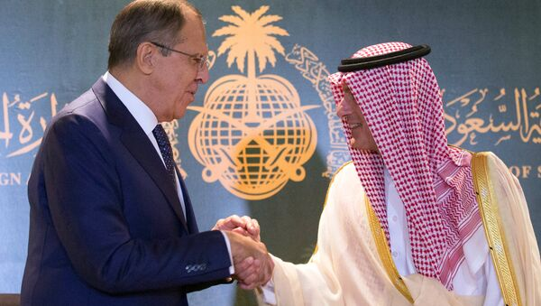Russian Foreign Minister Sergey Lаvrov, left, and Saudi Foreign Minister Adel al-Jubeir during their meeting in Jeddah - Sputnik International
