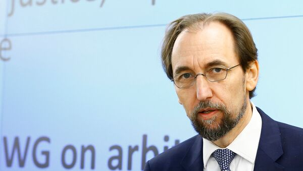 Zeid Ra'ad Al Hussein, U.N. High Commissioner for Human Rights arrives at the 36th Sesssion of the Human Rights Council at the United Nations in Geneva, Switzerland - Sputnik International