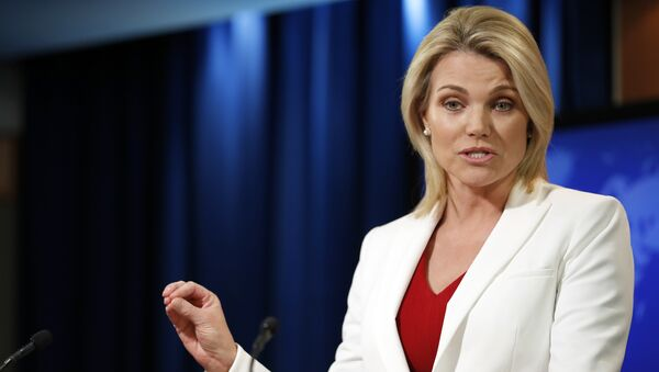State Department spokeswoman Heather Nauert speaks during a briefing at the State Department in Washington, Wednesday, Aug. 9, 2017 - Sputnik International