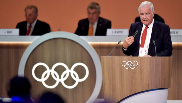 International Olympic Committee (IOC) and World Anti Doping Agency (WADA) Sir Craig Reedie member delivers his report on doping during the 131st IOC session in Lima - Sputnik International